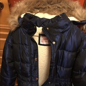 Justice Sherpa lined winter coat